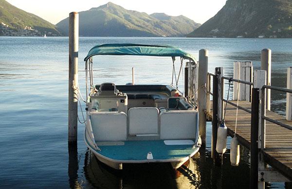 noleggio pontone lago di lugano